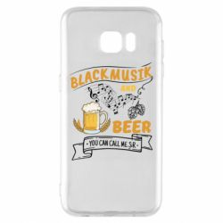 Чехол для Samsung S7 EDGE Black music and bear you can call me sir