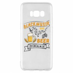 Чехол для Samsung S8 Black music and bear you can call me sir