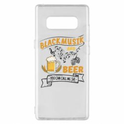 Чехол для Samsung Note 8 Black music and bear you can call me sir
