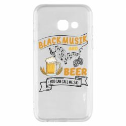 Чехол для Samsung A3 2017 Black music and bear you can call me sir