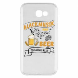 Чехол для Samsung A7 2017 Black music and bear you can call me sir