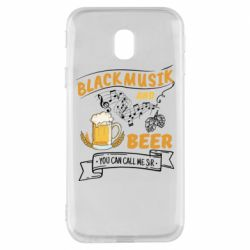 Чехол для Samsung J3 2017 Black music and bear you can call me sir