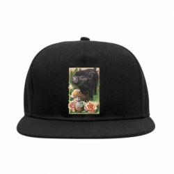 Снепбек Black pig and flowers