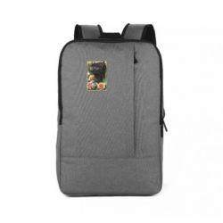 Рюкзак для ноутбука Black pig and flowers