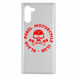 Чехол для Samsung Note 10 Black Rebel Motorcycle Club