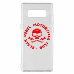 Чехол для Samsung Note 8 Black Rebel Motorcycle Club