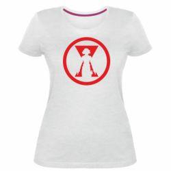 Жіноча стрейчева футболка Black Widow logo