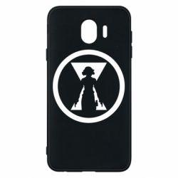 Чохол для Samsung J4 Black Widow logo