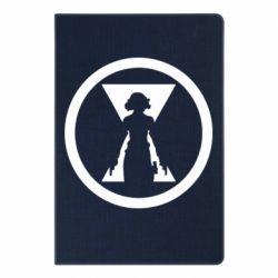 Блокнот А5 Black Widow logo