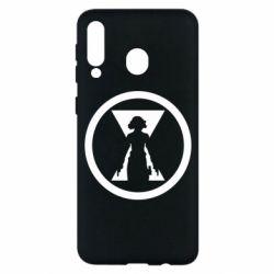 Чохол для Samsung M30 Black Widow logo