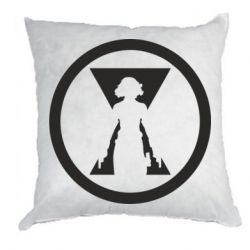 Подушка Black Widow logo