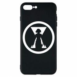 Чохол для iPhone 7 Plus Black Widow logo