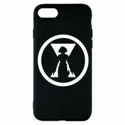 Чохол для iPhone 8 Black Widow logo