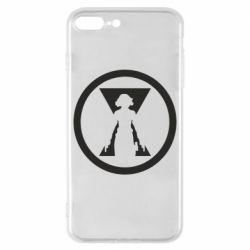Чохол для iPhone 8 Plus Black Widow logo