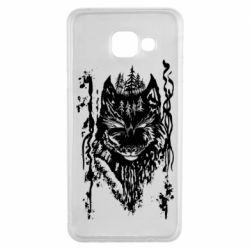 Чехол для Samsung A3 2016 Black wolf with patterns