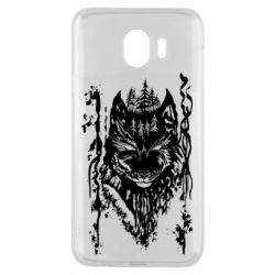 Чехол для Samsung J4 Black wolf with patterns