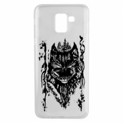 Чехол для Samsung J6 Black wolf with patterns