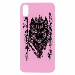 Чехол для iPhone Xs Max Black wolf with patterns
