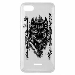 Чехол для Xiaomi Redmi 6A Black wolf with patterns