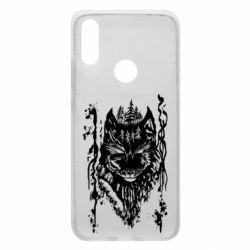 Чехол для Xiaomi Redmi 7 Black wolf with patterns