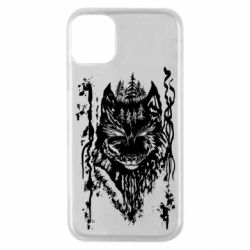 Чехол для iPhone 11 Pro Black wolf with patterns