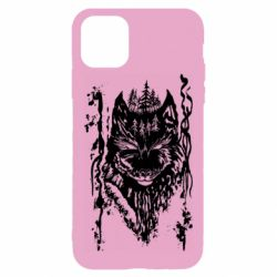 Чехол для iPhone 11 Pro Max Black wolf with patterns