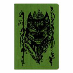 Блокнот А5 Black wolf with patterns