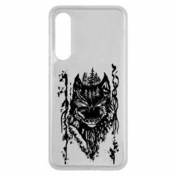 Чехол для Xiaomi Mi9 SE Black wolf with patterns