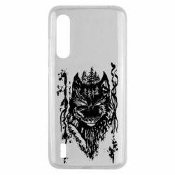Чехол для Xiaomi Mi9 Lite Black wolf with patterns