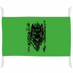 Флаг Black wolf with patterns