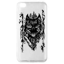Чехол для Xiaomi Redmi Go Black wolf with patterns