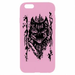 Чехол для iPhone 6 Plus/6S Plus Black wolf with patterns