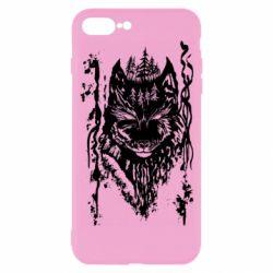 Чехол для iPhone 7 Plus Black wolf with patterns