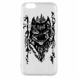 Чехол для iPhone 6/6S Black wolf with patterns