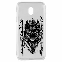 Чехол для Samsung J3 2017 Black wolf with patterns