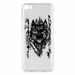 Чехол для Xiaomi Mi5/Mi5 Pro Black wolf with patterns