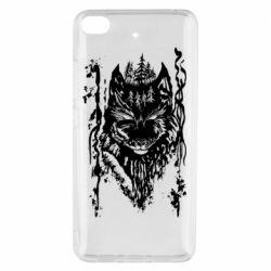 Чехол для Xiaomi Mi 5s Black wolf with patterns