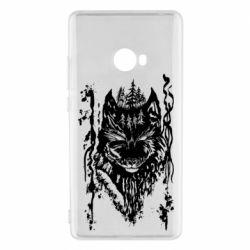 Чехол для Xiaomi Mi Note 2 Black wolf with patterns
