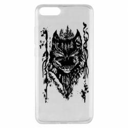 Чехол для Xiaomi Mi Note 3 Black wolf with patterns