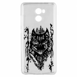 Чехол для Xiaomi Redmi 4 Black wolf with patterns