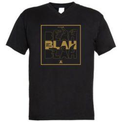 Чоловіча футболка з V-подібним вирізом Blah Blah Blah
