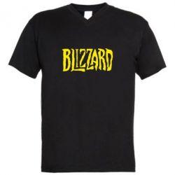Мужская футболка  с V-образным вырезом Blizzard Logo - FatLine