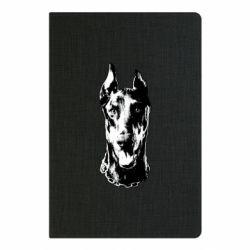 Блокнот А5 Доберман чорний