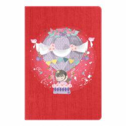 Блокнот А5 Принцесса на воздушном шаре