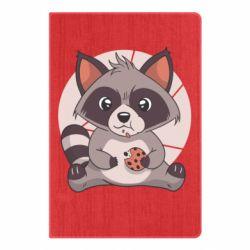 Блокнот А5 Raccoon with cookies