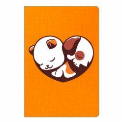 Блокнот А5 Сердечко. Котик и собачка