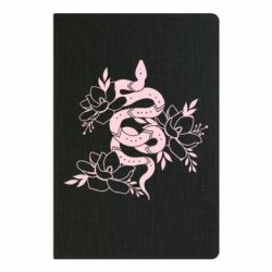 Блокнот А5 Snake with flowers