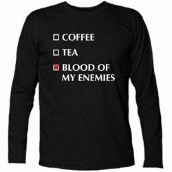 Футболка з довгим рукавом Blood of my enemies