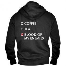 Чоловіча толстовка на блискавці Blood of my enemies