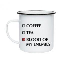 Кружка емальована Blood of my enemies